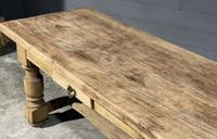 Rustic French Oak Farmhouse Kitchen Dining Table (3 of 16)