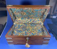 Georgian Solid Mahogany Brassbound Campaign Box (4 of 16)