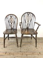 Set of Six 20th Century Wheelback Chairs including Two Carvers (5 of 20)