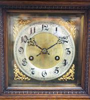 Superb Antique German Oak 8-Day Mantel Clock Quarter Striking Bracket Clock by Junghans (7 of 8)