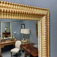 French Rippled Gilt Overmantle Mirror (4 of 8)