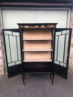 Antique Chinoiserie Lacquered Display Cabinet (8 of 9)