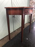Quality Flamed Mahogany Single Draw Side Table (3 of 7)