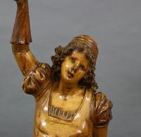 A Large Beautifully Carved Figure of a Young Woman (5 of 6)