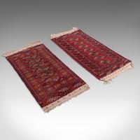 Antique Near Pair, Bokhara Rugs, Turkoman, Tekke, Carpet, Wall Covering, C.1910 (3 of 12)