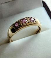 Vintage 9ct Ruby Gypsy Ring (5 of 10)