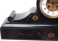 Amazing French Slate Mantel Clock Visible Escapement 8 Day Striking Mantle Clock (2 of 14)