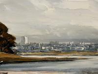 Edward Elliot (1850-1916) Superb Vintage Fishing Estuary Landscape Oil Painting (11 of 12)