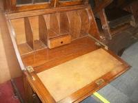 Glazed Oak Bureau Bookcase (7 of 7)