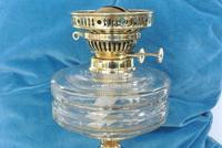Original Victorian Cut Glass & Brass Oil Lamp - c.1900 Working Order (5 of 7)