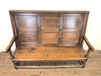 Large Antique Oak Settle (2 of 12)