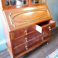 Victorian Mahogany Glazed Bookcase / Bureau with pigeon holes (11 of 14)