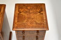 Pair of Antique Victorian Burr Walnut Bedside Chests (5 of 10)