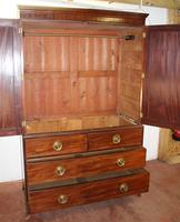 1900's Mahogany Linen Press All hanging with 2 Drawers (2 of 4)