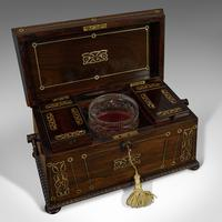 Antique Tea Caddy, English, Rosewood, Chest, Thomas of London, Regency c.1820 (5 of 12)