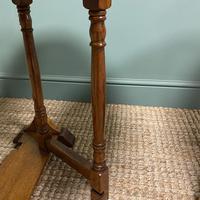 Unusual Pair of Edwardian Oak Drop Leaf Antique Sofa Tables (5 of 7)