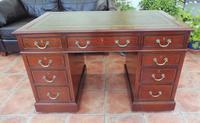 Howard & Sons Double Pedestal Desk c.1890 (13 of 13)
