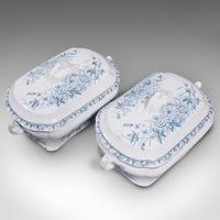 Pair of Antique Serving Tureens, English, Ceramic, Lidded Dish, Victorian, 1900 (7 of 12)