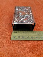 Antique Sterling Silver Heavy Hallmarked  Matchbox Case , 1890 Samuel Walton Smith (3 of 12)