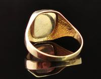 Vintage 9ct Gold Masonic Swivel Ring, Signet, Blue Enamel (6 of 13)