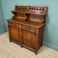 Victorian Holland & Sons Antique Oak Sideboard (6 of 9)
