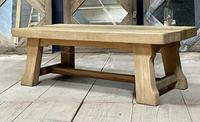 French or Scandinavian Bleached Oak Coffee Table (11 of 15)