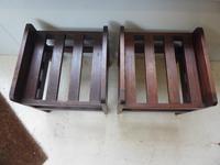 Pair of Oak Luggage Racks (5 of 7)