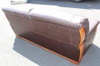 1960s 3 Seater Brown Retro Leather Sofa (3 of 3)
