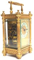 Fine Antique French 8-day Fleur De Lis Decorated Panel 8-day Carriage Clock Timepiece c.1890 (3 of 10)