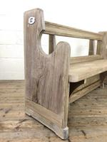 Antique Pine Chapel Pew Bench (7 of 9)