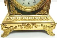 Fine French Ormolu Cubed Mantel Clock Classic 8 Day Striking Mantle Clock (6 of 10)