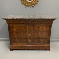 Louis Philippe Marble Top Commode (3 of 6)