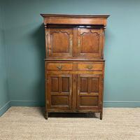 Magnificent Georgian Period Oak Cwpwrdd Deuddarn Cupboard (4 of 8)