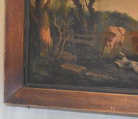 Fine Georgian Landscape Oil Painting with Cattle & Dog (7 of 8)
