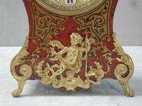 French Louis XV Style Boulle Mantel Clock by Samuel Marti (4 of 8)