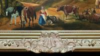 Huge Fabulous 19thc Continental Farming Country Landscape Oil Painting (17 of 19)