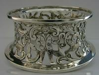 Rare English Solid Sterling Silver Potato Dish Ring London 1917 Antique (3 of 12)