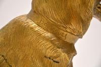Large Antique Gilt Bronze Dog Sculpture by Robert  Bousquet (8 of 9)