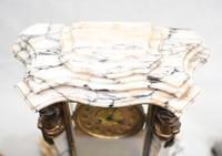 Antique Mantle Clock Set Garniture French Empire Urns (17 of 27)