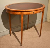 19th Century Oval Satinwood Writing Table (6 of 7)