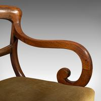Antique Serpentine Armchair, English, Mahogany, Elbow Seat, Regency c.1820 (11 of 11)