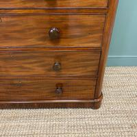 Tall Victorian Mahogany Antique Chest of Drawers (6 of 6)