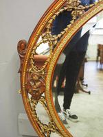 Gilded Walnut Oval Overmantel Mirror (9 of 11)