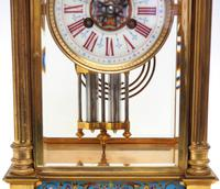 Antique French Table Regulator with Compensating Pendulum 8 Day 4 Glass Mantel Clock (4 of 12)
