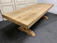 Large French Bleached Oak Farmhouse Dining Table (3 of 19)