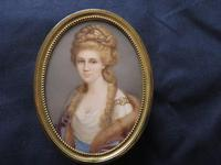Miniature Portrait 1880 Hand Painted Easel Backed Framerame (4 of 4)