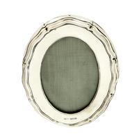 """Antique Sterling Silver 4 1/2"""" Oval Photo Frame 1915"""