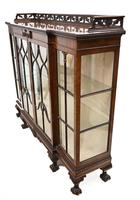 Antique Chippendale China Cabinet Mahogany Antique c.1910 (13 of 15)