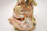 Antique Italian Capodimonte Porcelain Table Lamp (8 of 11)