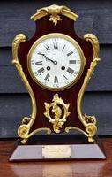 Handsome Late 19th Century Mahogany & Ormolu French Mantel Clock (6 of 7)